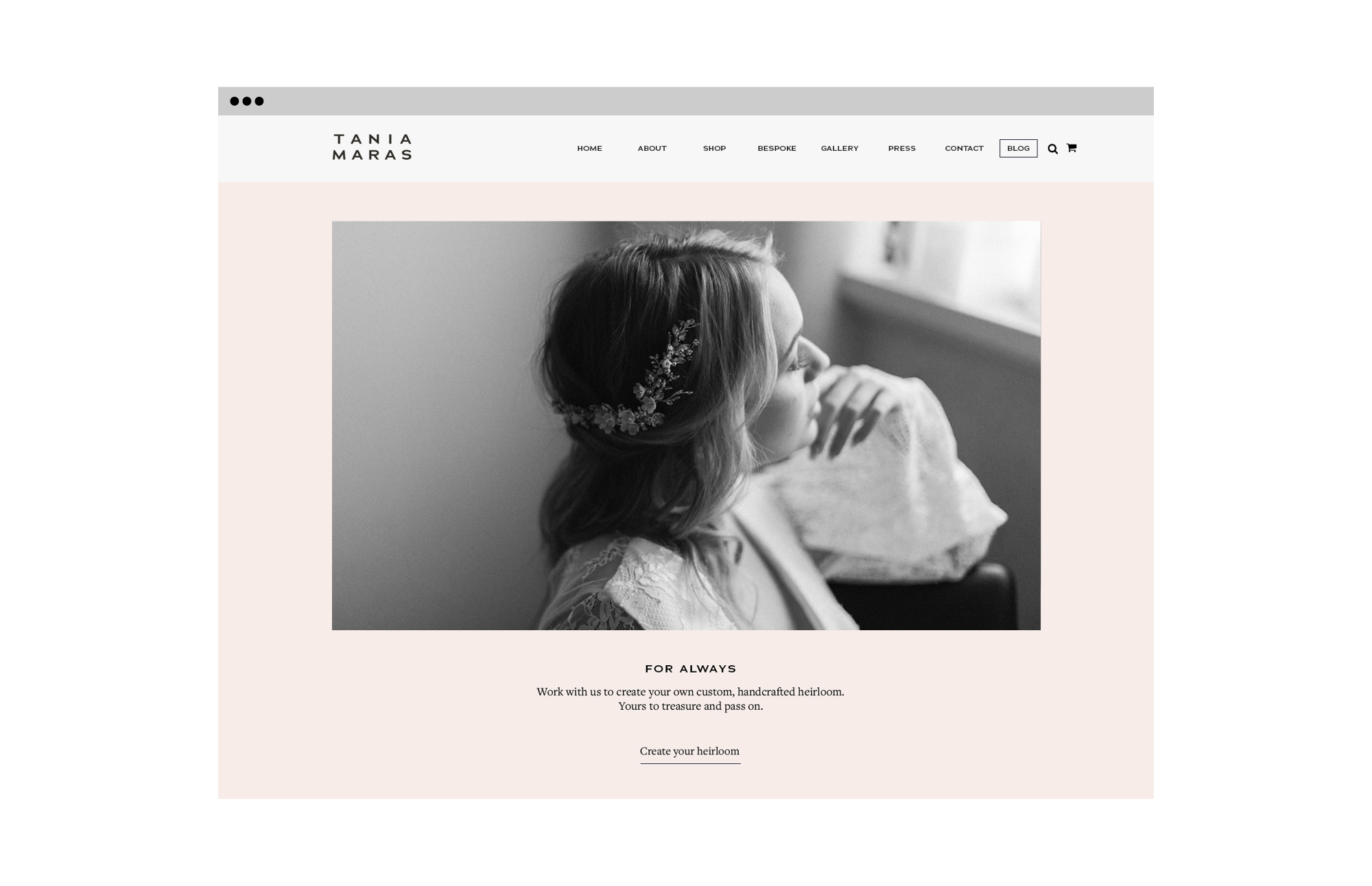 Tania Maras Home Page Restyle